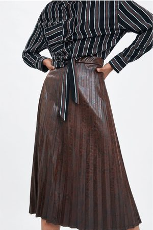 Zara Jupe plissée à imprimé animal