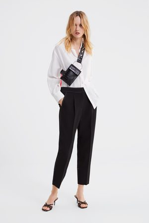 Zara Trousers with contrast topstitching