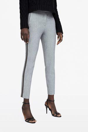 pantalon zara femme bande laterale