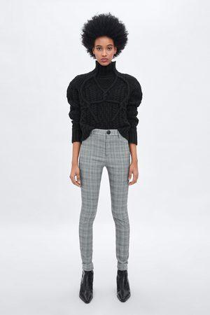Zara Legging taille haute avec carreaux