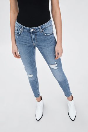 Zara Low-rise skinny compact jeans