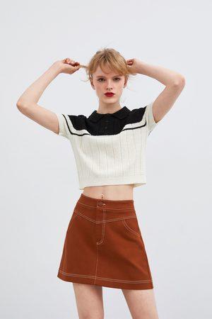 Zara Mini-jupe à coutures