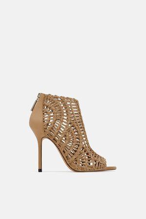 Zara Sandales style bottines tressées