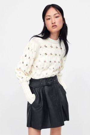 Zara Mini-jupe en cuir synthétique avec ceinture