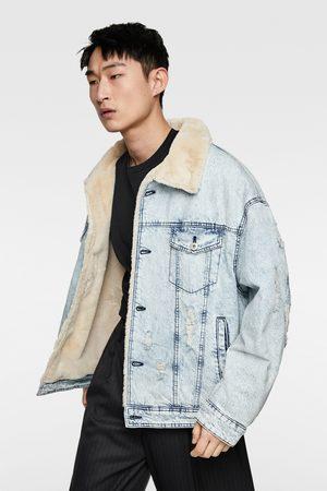 Zara Veste en jean effet mouton