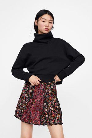 Zara Patchwork floral print mini skirt