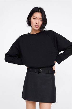 Zara Faux leather mini skirt with belt