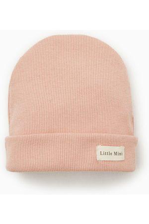 Zara Bonnet côtelé à étiquette