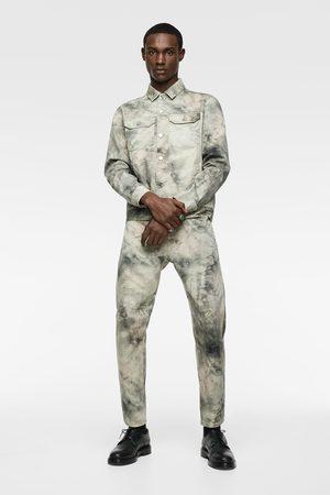Zara Veste en jean avec imprimé tie & dye