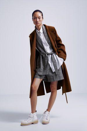 Zara Femme Manteaux - Manteau à boutonnage croisé avec ceinture