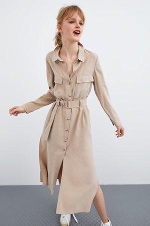 Zara Robe longue avec ceinture