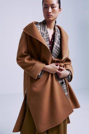Zara Manteau à boutonnage croisé avec ceinture
