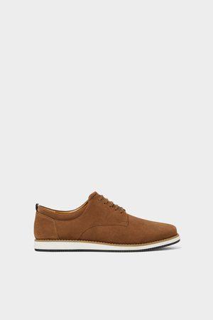 Zara Chaussures sport en cuir grises