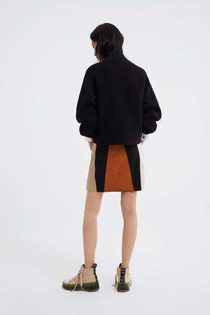 Zara Mini jupe effet daim
