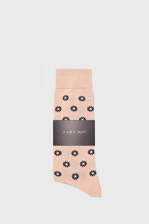 Zara Chaussettes mercerisées avec jacquard à fleurs