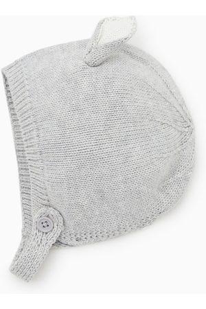 Zara Bébé Bonnets - Bonnet en maille à oreilles