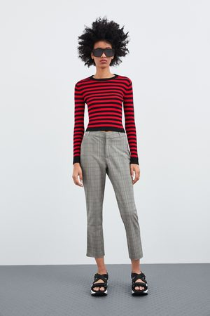 Chinos Zara Zara Zara Chinos chino Femme Femme Pantalon Pantalon chino IY6gvymfb7