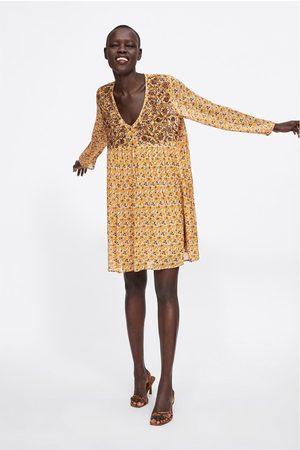 Zara Femme Robes imprimées - Robe à imprimé fleuri