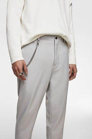Zara Pantalons classiques - Pantalon coupe carotte