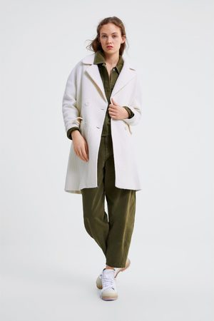 Zara Manteau à boutonnage croisé avec poches