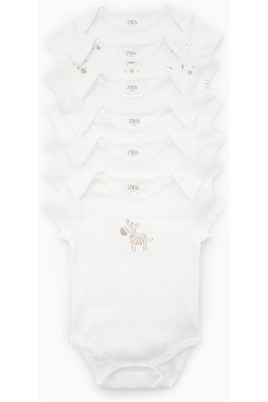 Zara Lot de six bodys à zèbres