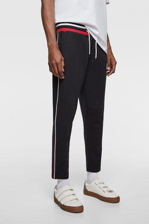 Zara Pantalon de jogging à bandes