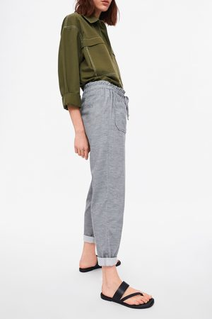 Zara Pantalon en velours côtelé baggy