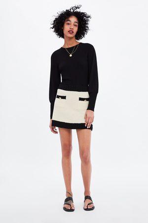 Zara Mini jupe à liserés en contraste