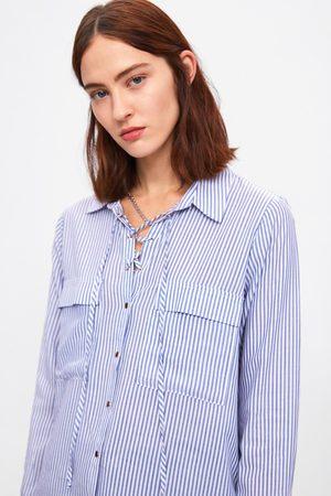 Zara Chemise à rayures et lacet