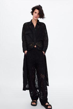 Zara Robe-chemise en dentelle avec poche