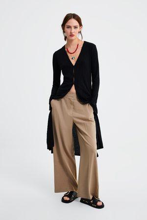 Zara Pantalon ample à bouton