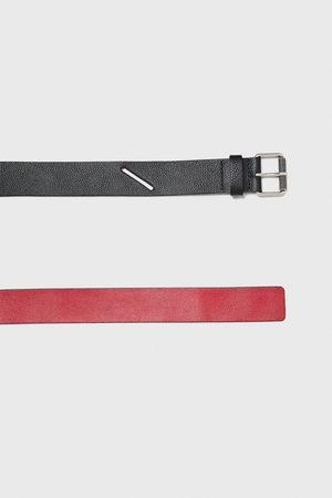 Zara Ceintures - Two-tone leather belt