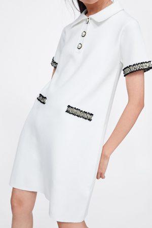 Zara Robe avec boutons en perle