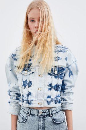 Zara Veste en jean courte tie & dye