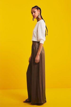 Zara Pantalon large à effet brillant