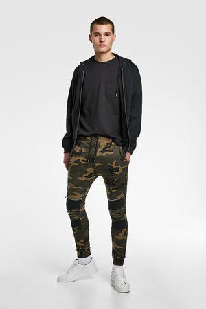 Zara Pantalon de jogging camouflage