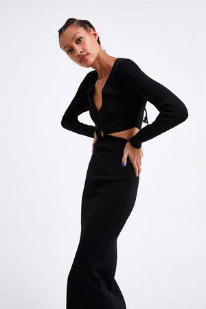 Zara Robe longue en maille ajourée