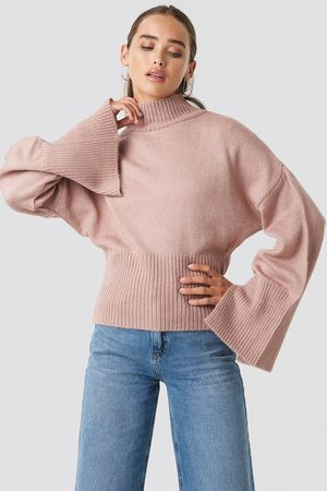 NA-KD Open Sleeve Knitted Sweater - Pink