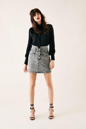 Zara Mini jupe zw premium 80's mini acid black