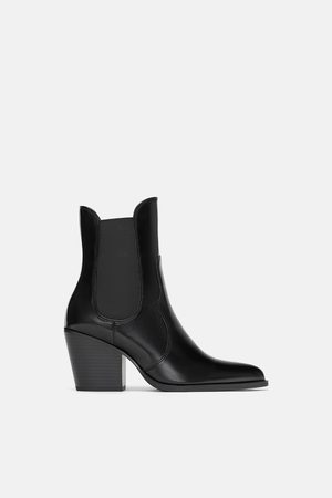 Zara Bottines à talon cow-boy