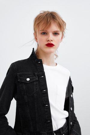 Moumoute Veste En Femme Zara Jean WorxeQdCB