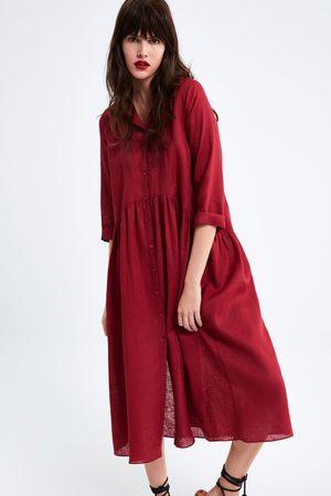 Zara Robe longue en lin
