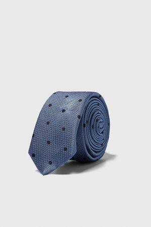 Zara Cravate slim avec jacquard à pois