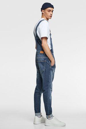 Zara Salopette en jean délavé vintage