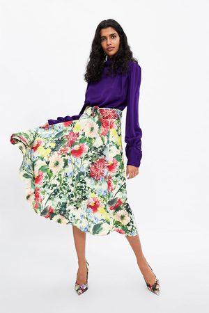 Zara Jupe à imprimé floral