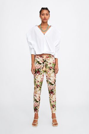 pantalon femme fleuri zara