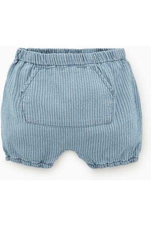 Zara Bermuda en jean à rayures