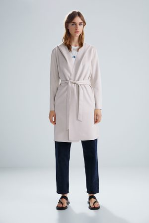 Zara Femme Manteaux - Faux suede coat