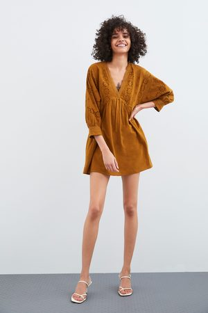 Zara Robe-combinaison perforée et brodée