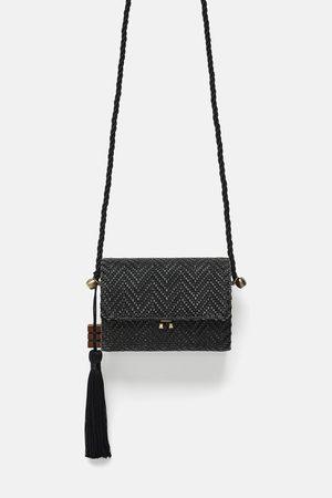 Zara Mini sac bandoulière en raphia